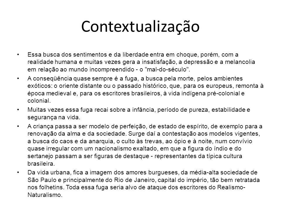 Brasil No Brasil, o Romantismo desenvolveu-se principalmente nos gêneros romance e poesia.