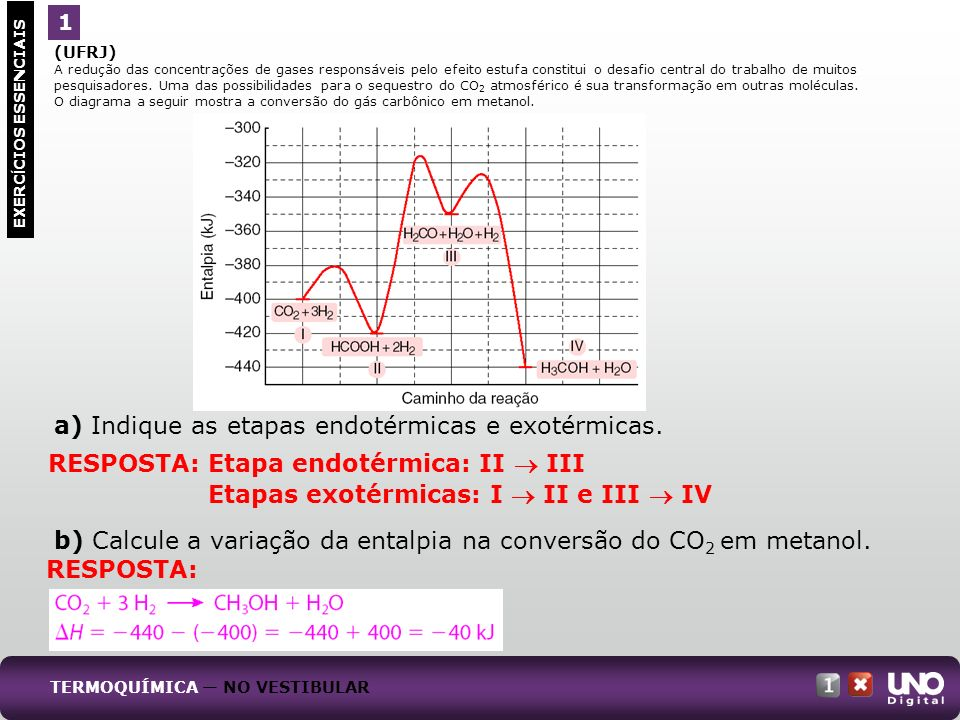 (UFRJ) A redução das concentrações de gases responsáveis pelo efeito estufa constitui o desafio central do trabalho de muitos pesquisadores. Uma das p