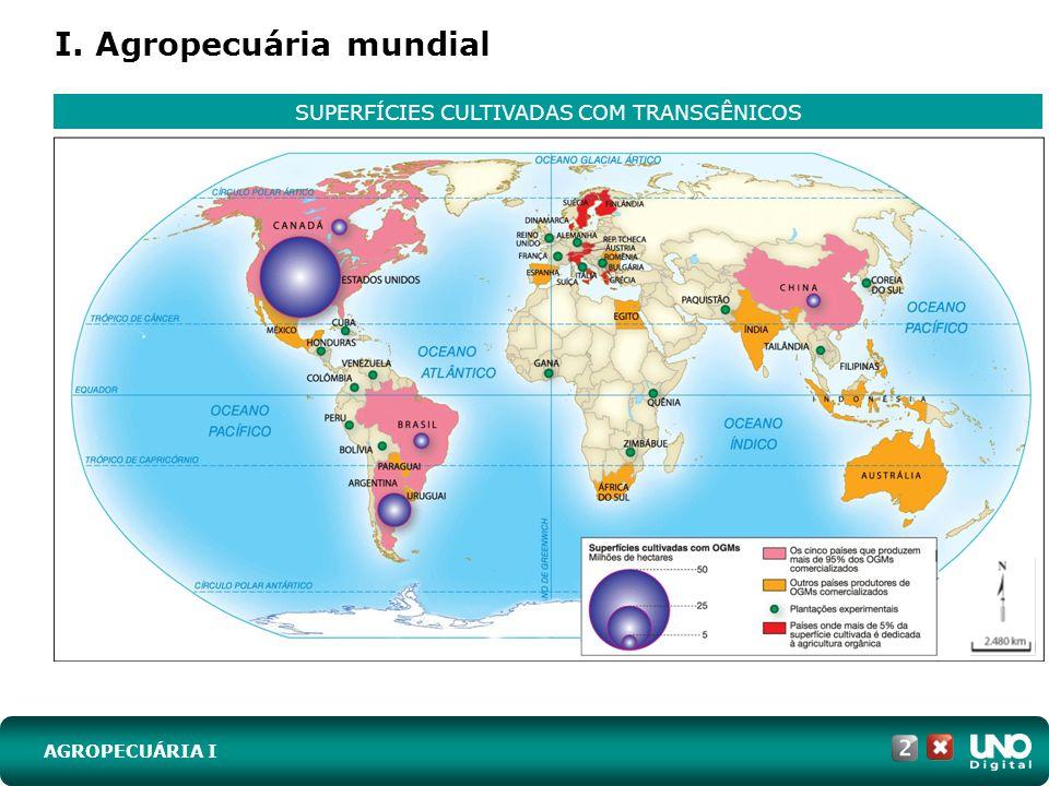 I. Agropecuária mundial AGROPECUÁRIA I SUPERFÍCIES CULTIVADAS COM TRANSGÊNICOS