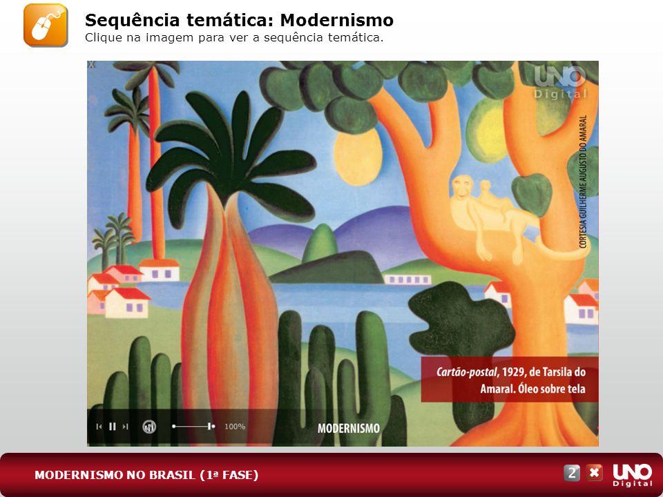 Sequência temática: Modernismo Clique na imagem para ver a sequência temática. MODERNISMO NO BRASIL (1 a FASE)