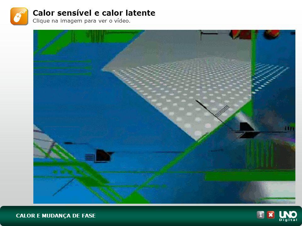 Calor sensível e calor latente Clique na imagem para ver o vídeo. CALOR E MUDANÇA DE FASE