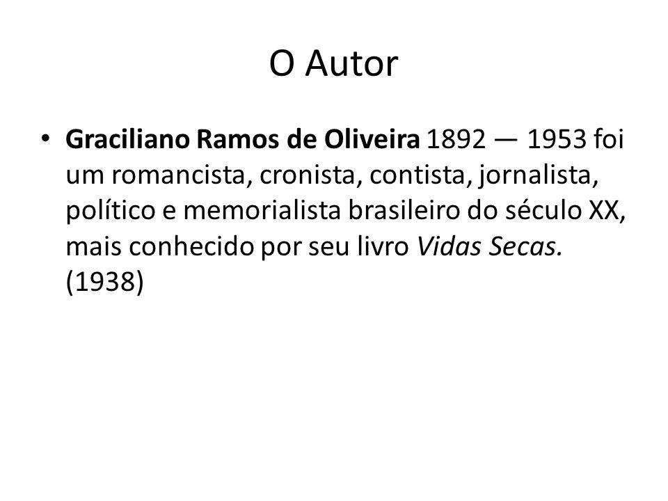 O Autor Graciliano Ramos de Oliveira 1892 1953 foi um romancista, cronista, contista, jornalista, político e memorialista brasileiro do século XX, mai