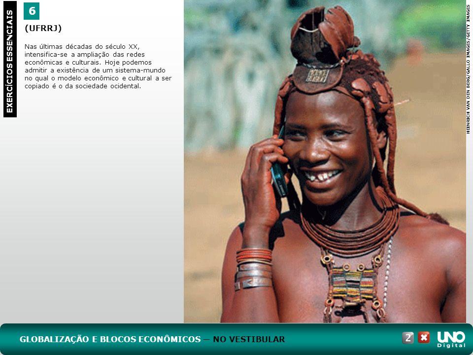 6 EXERC Í CIOS ESSENCIAIS (UFRRJ) Nas últimas décadas do século XX, intensifica-se a ampliação das redes econômicas e culturais.