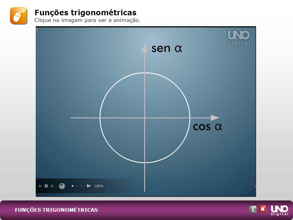 Funções trigonométricas Clique na imagem para ver a animação.