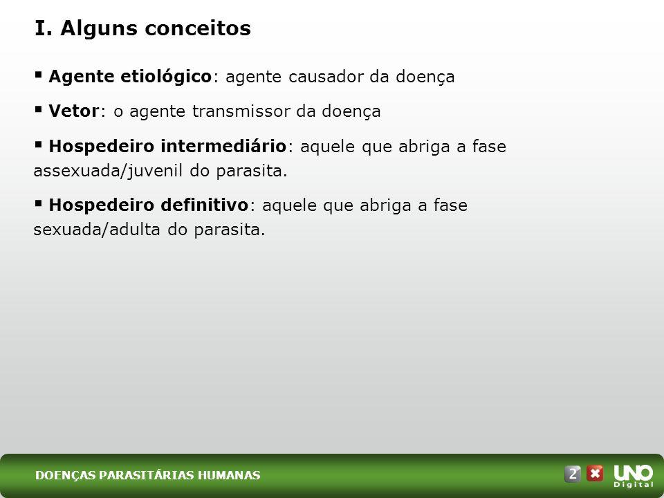 DOENÇAS PARASITÁRIAS HUMANAS I.
