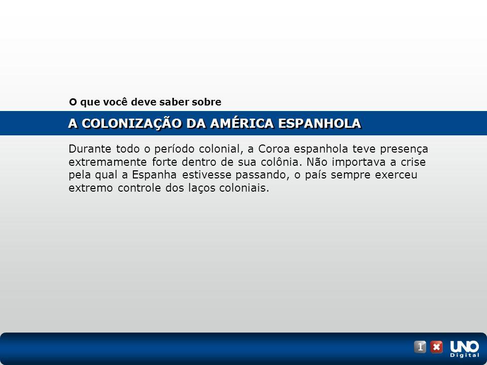 (UFJF-MG) O texto a seguir se refere ao processo de colonização da América Espanhola.