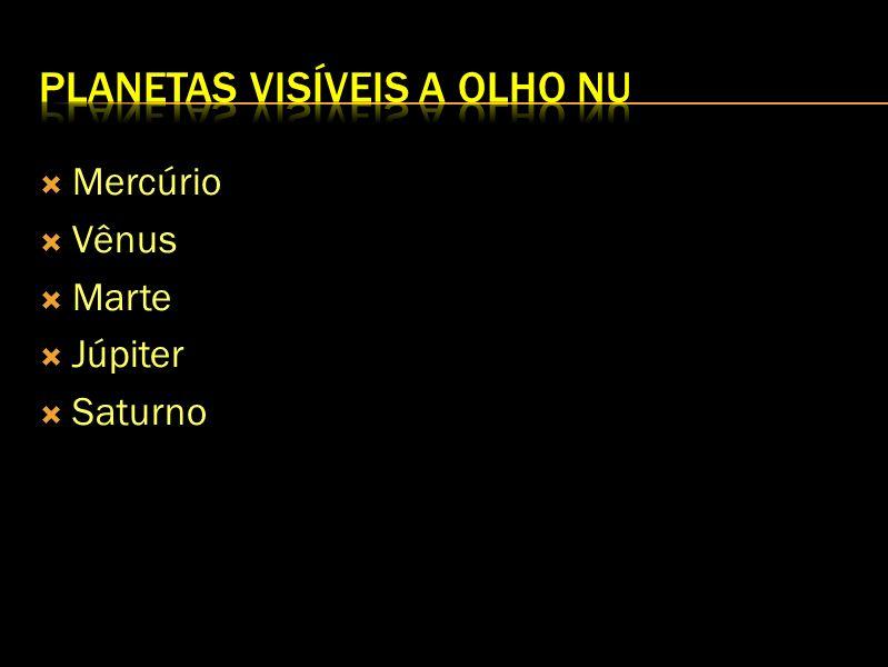 Mercúrio Vênus Marte Júpiter Saturno