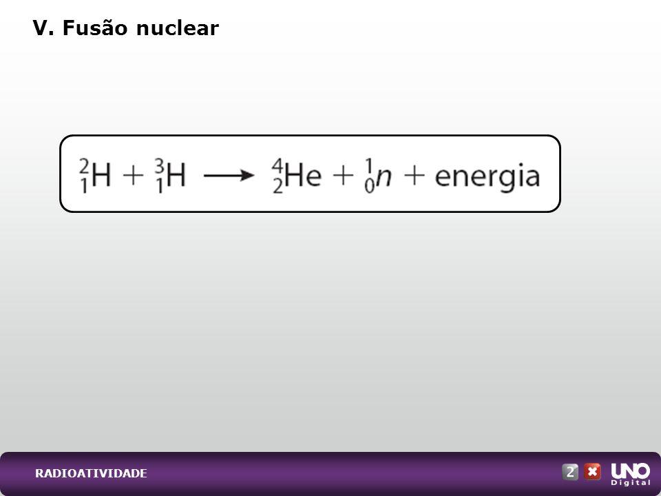 V. Fusão nuclear RADIOATIVIDADE