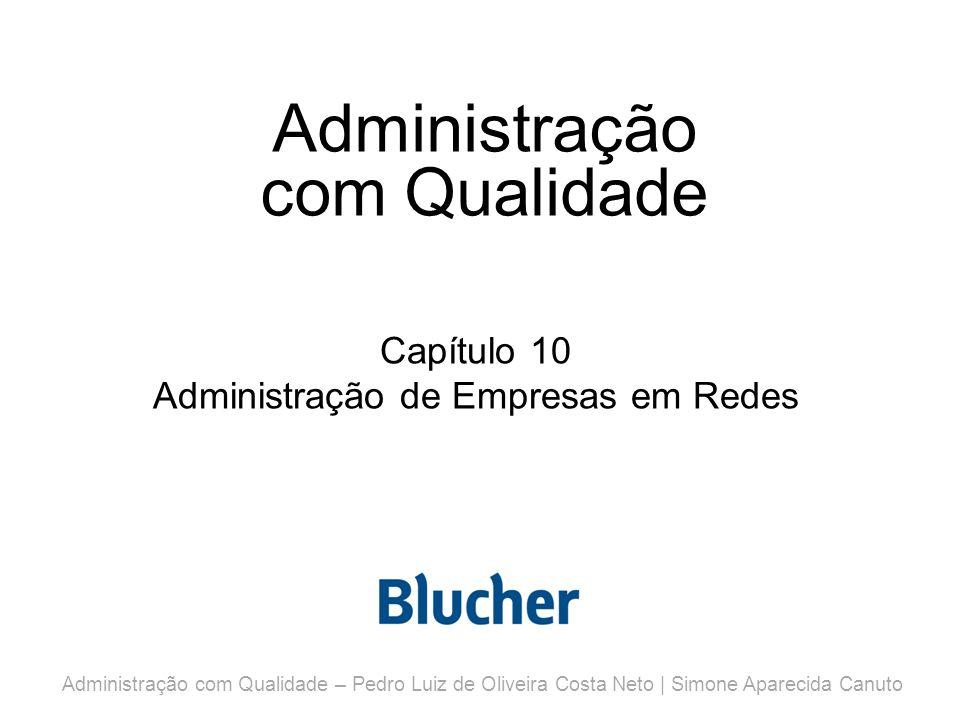 Administração com Qualidade Capítulo 10 Administração de Empresas em Redes Administração com Qualidade – Pedro Luiz de Oliveira Costa Neto | Simone Aparecida Canuto