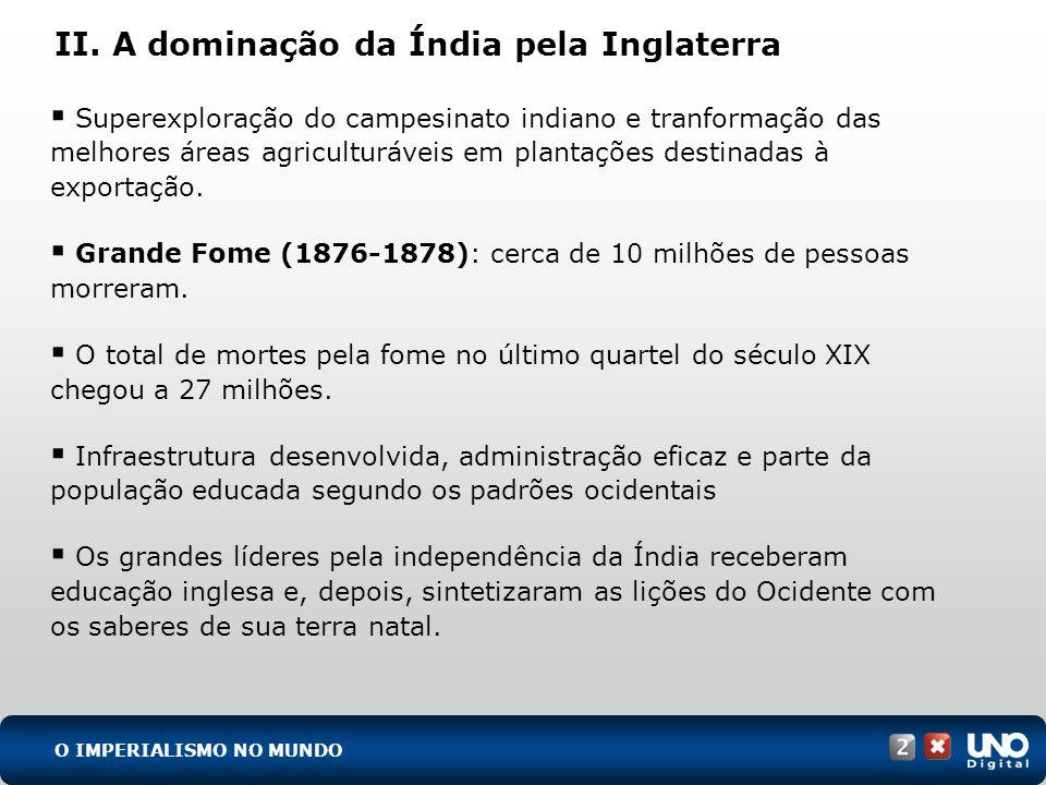 (UFF-RJ) Interesses econômicos, fatores demográficos, razões humanitárias, iniciativas individuais, mas, principalmente, motivos políticos encontram-se na origem do grande movimento de colonização europeia no mundo durante a segunda metade do século XIX.