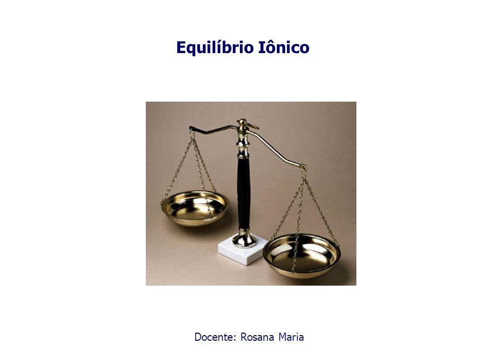 Equilíbrio Iônico Docente: Rosana Maria