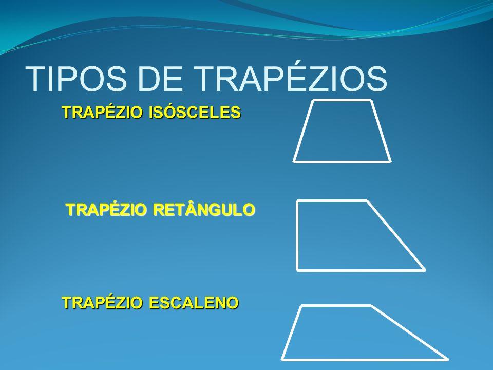 TIPOS DE TRAPÉZIOS TRAPÉZIO ISÓSCELES TRAPÉZIO RETÂNGULO TRAPÉZIO ESCALENO