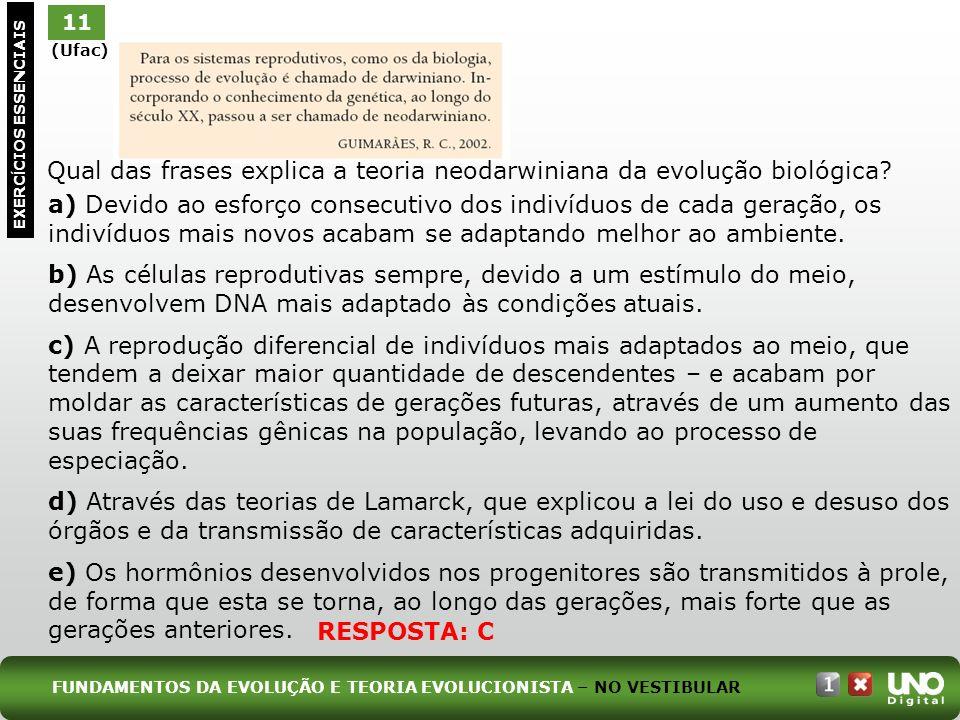 a) Devido ao esforço consecutivo dos indivíduos de cada geração, os indivíduos mais novos acabam se adaptando melhor ao ambiente. b) As células reprod