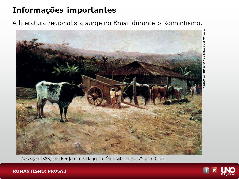 Tendências da prosa romântica brasileira Romance indianista: o índio era representante da América, dada sua valentia e nobreza.