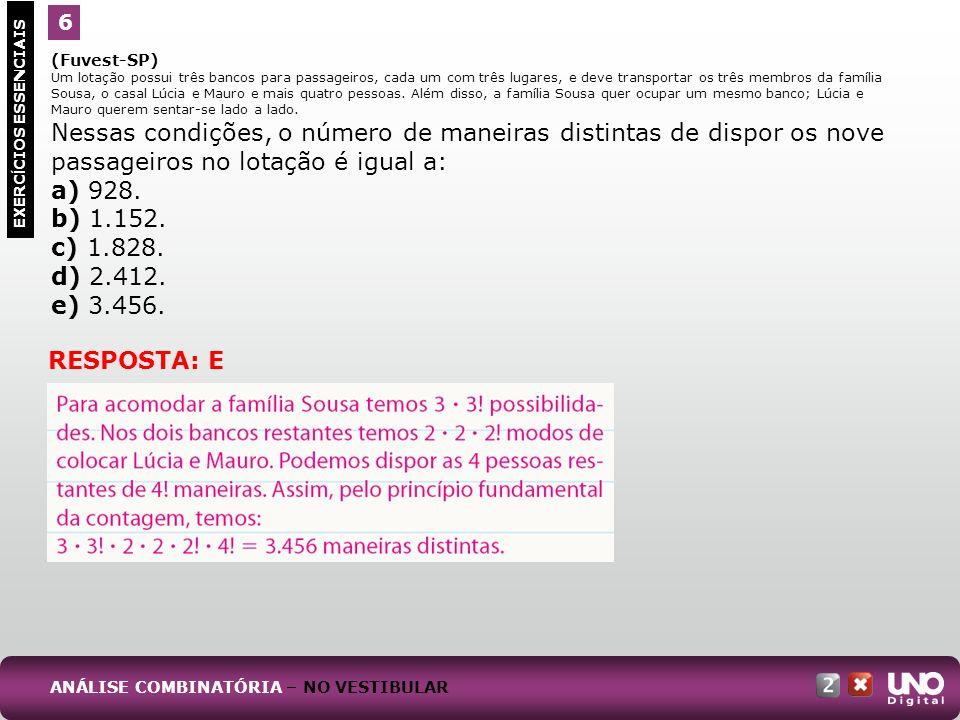 (Ufla-MG, adaptado) Um problema clássico em combinatória é calcular o número de maneiras de colocar bolas iguais em caixas diferentes.
