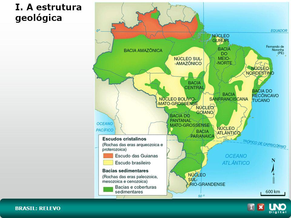 I. A estrutura geológica BRASIL: RELEVO