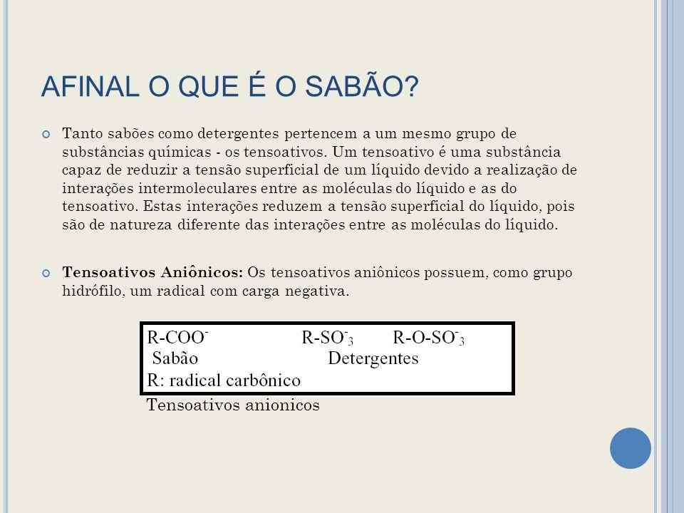 AFINAL O QUE É O SABÃO.