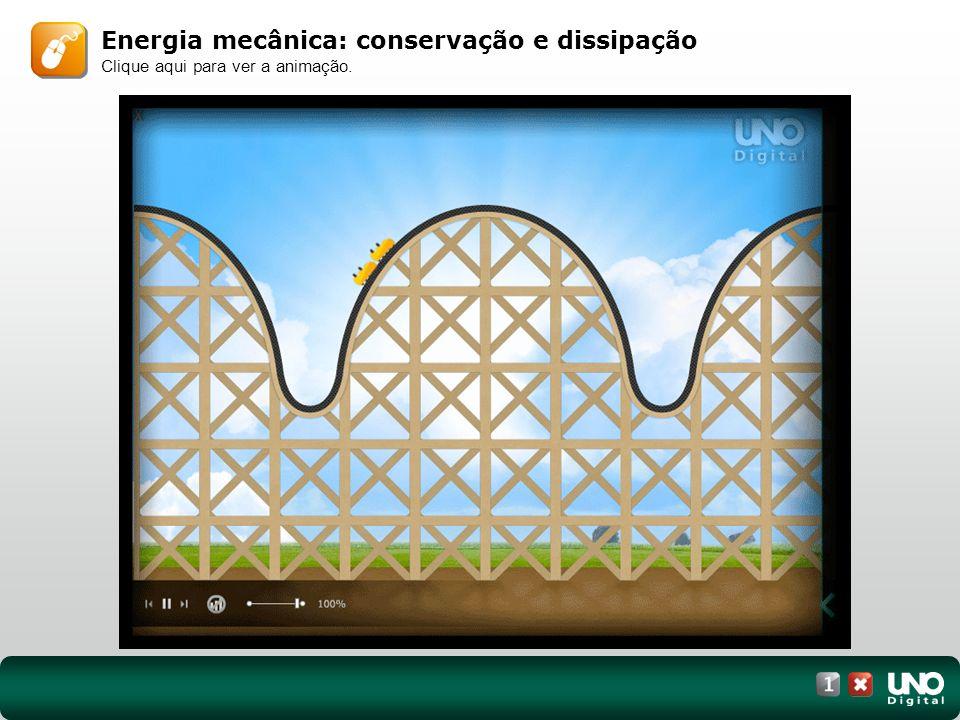 Energia mecânica: conservação e dissipação Clique aqui para ver a animação.