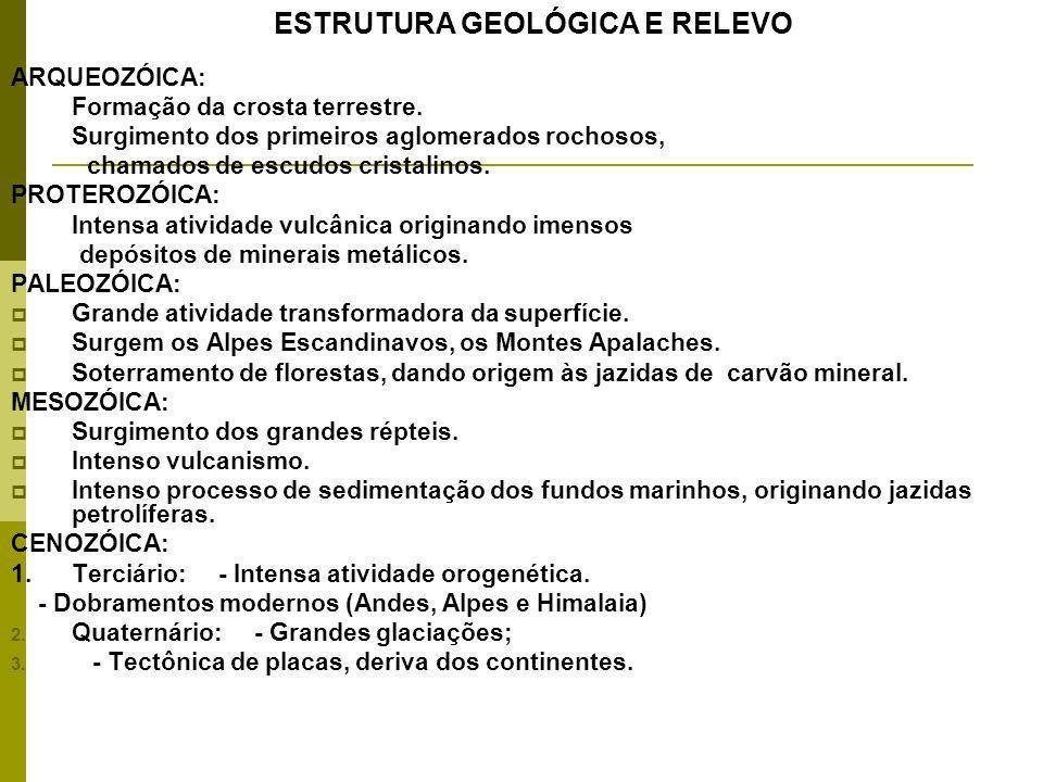 ARQUEOZÓICA: Formação da crosta terrestre.