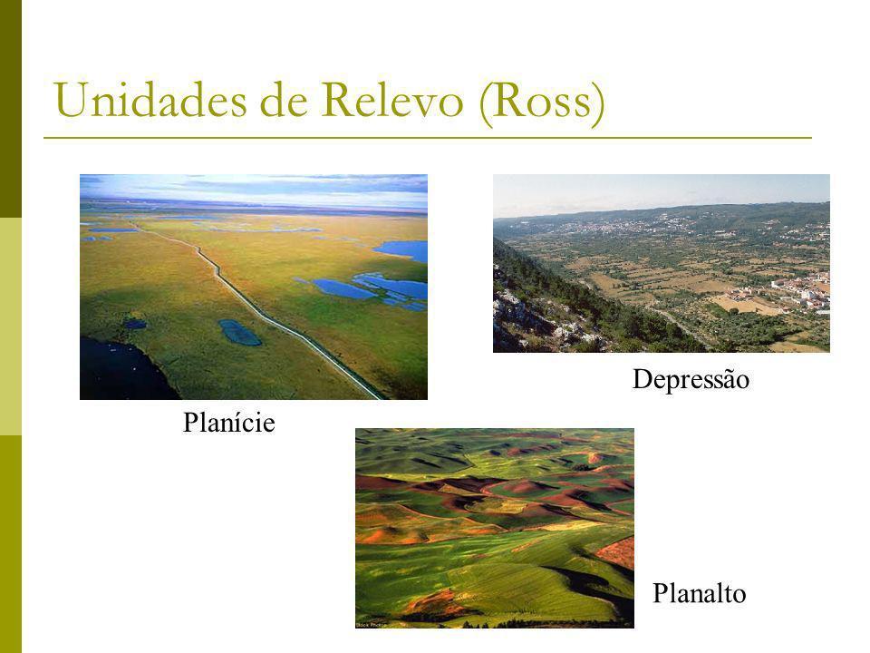 Unidades de Relevo (Ross) Planície Depressão Planalto