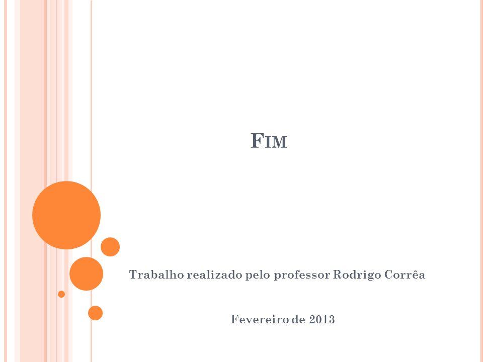 F IM Trabalho realizado pelo professor Rodrigo Corrêa Fevereiro de 2013