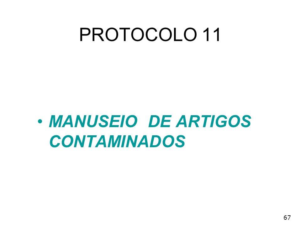 67 PROTOCOLO 11 MANUSEIO DE ARTIGOS CONTAMINADOS