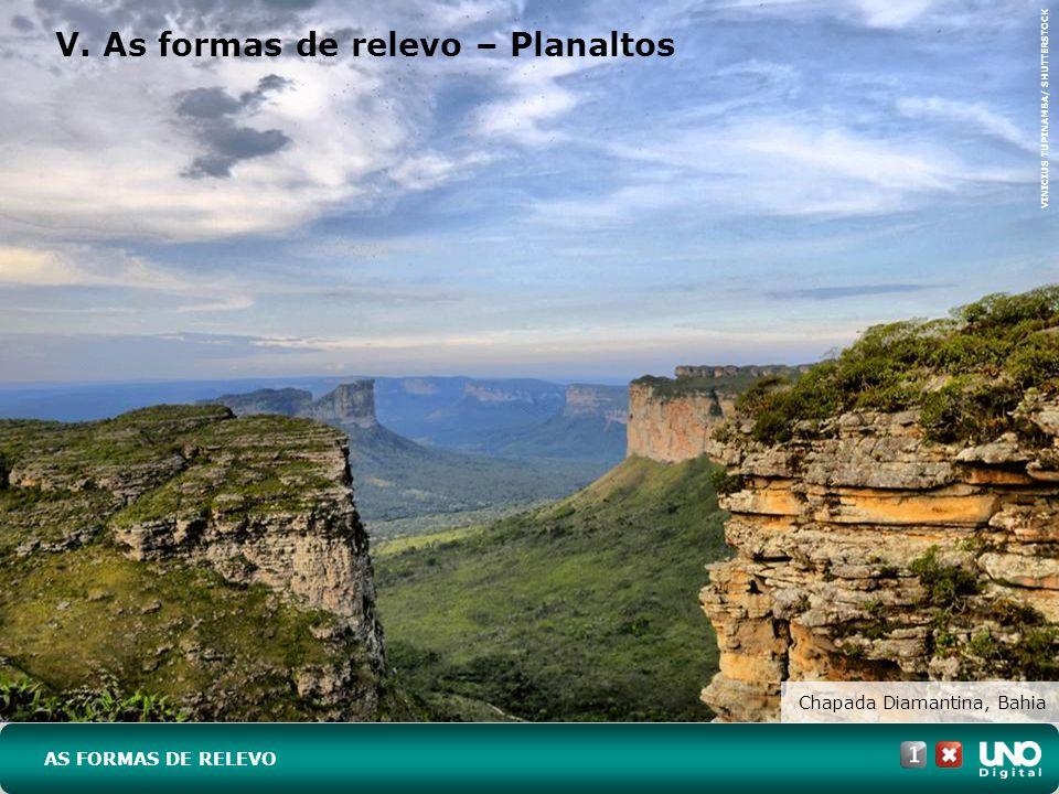 V. As formas de relevo – Planaltos Chapada Diamantina, Bahia AS FORMAS DE RELEVO VINICIUS TUPINAMBA/ SHUTTERSTOCK