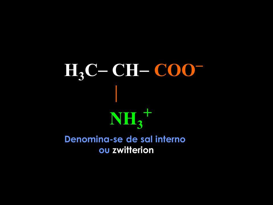 H 3 C CH COO NH 2 H+H+ Ligação Covalente Dativa