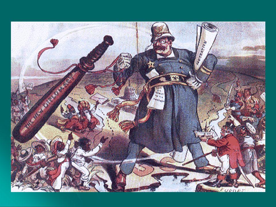 Política do Big Stick: Política do Big Stick: Cuba: Cuba: 1898 Independência de Cuba comandada por José Marti e apoiada pelos EUA.