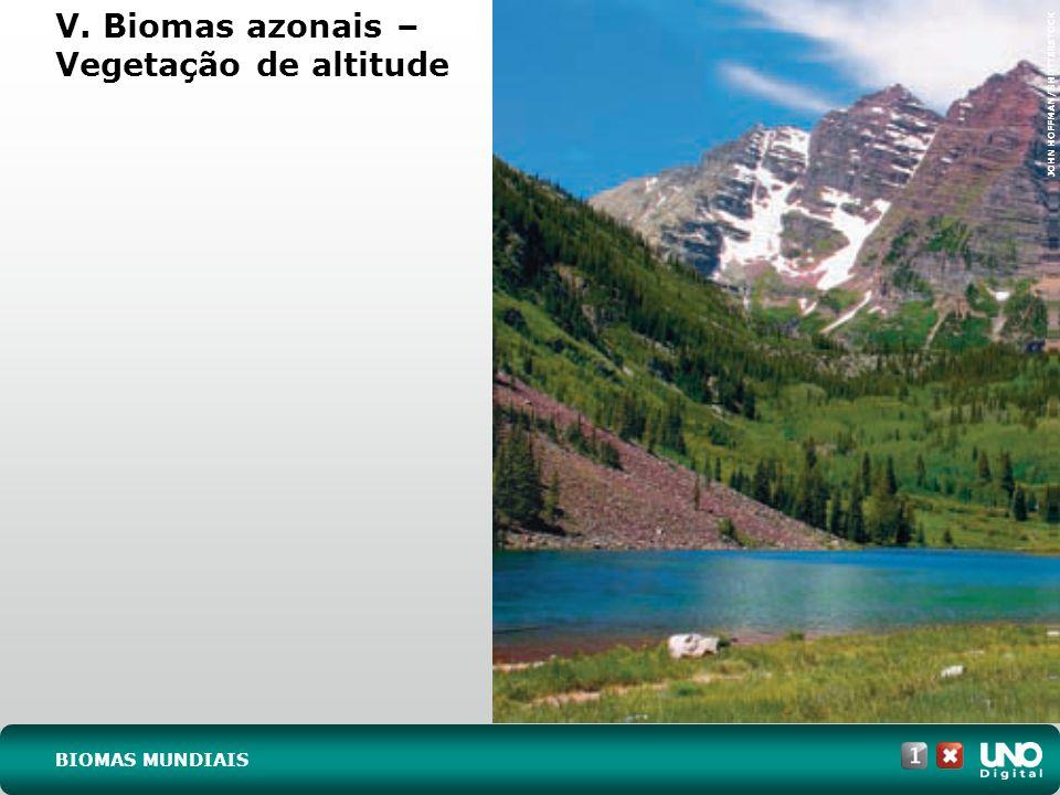 a) Identifique os biomas assinalados com os números I, II, III, IV e V.