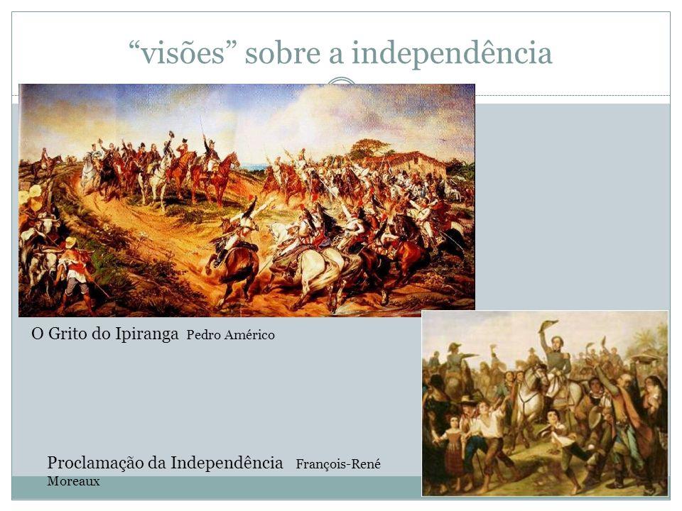 visões sobre a independência O Grito do Ipiranga Pedro Américo Proclamação da Independência François-René Moreaux
