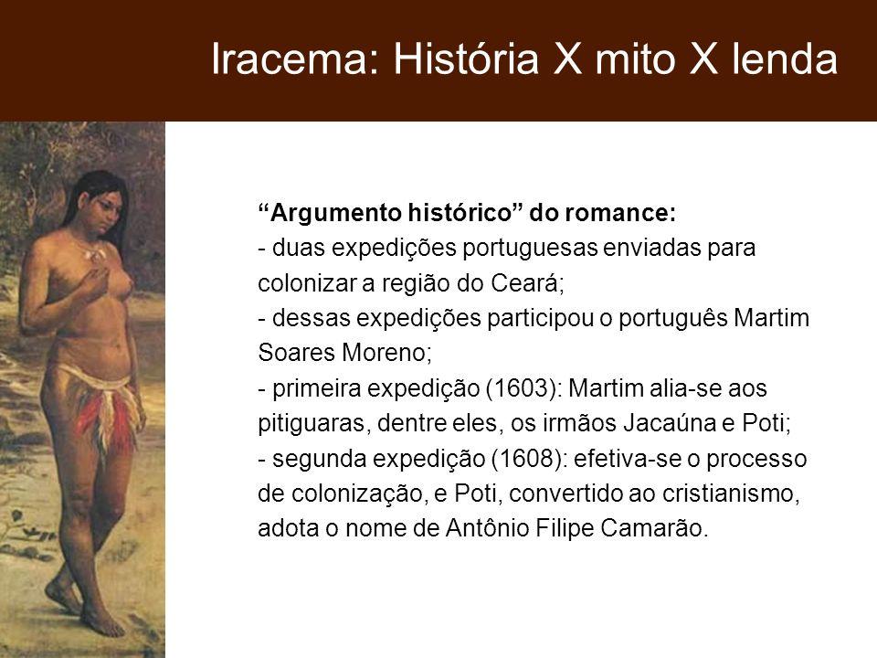 Argumento histórico do romance: - duas expedições portuguesas enviadas para colonizar a região do Ceará; - dessas expedições participou o português Ma