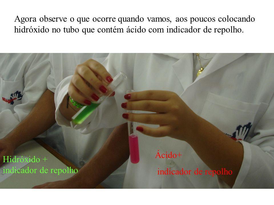 Veja a escala de cores que obtemos com o extrato de repolho em meio ácido, neutro e básico: Ácido Neutro Básico