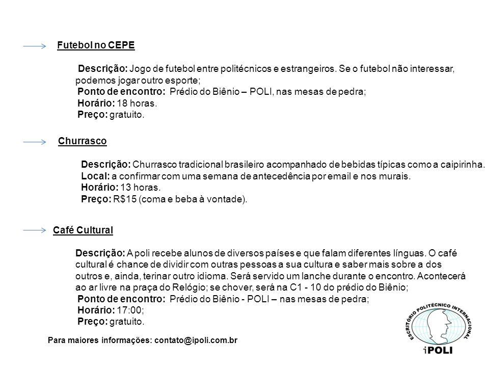 Futebol no CEPE Descrição: Jogo de futebol entre politécnicos e estrangeiros.