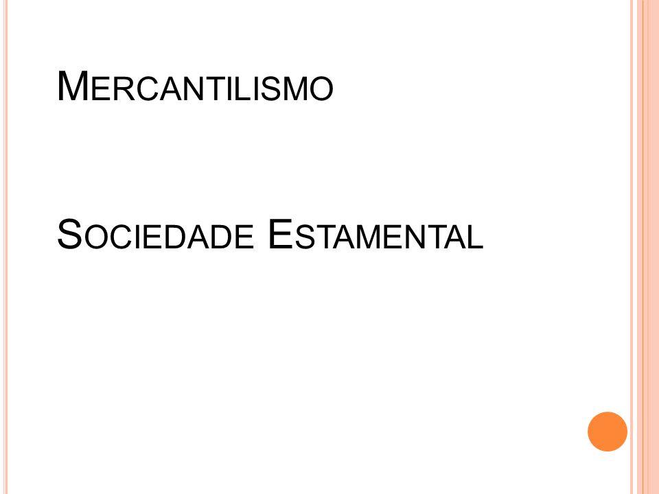A BSOLUTISMO M ERCANTILISMO S OCIEDADE E STAMENTAL