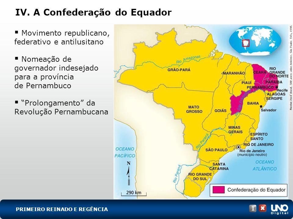 Movimento republicano, federativo e antilusitano Nomeação de governador indesejado para a província de Pernambuco Prolongamento da Revolução Pernambuc