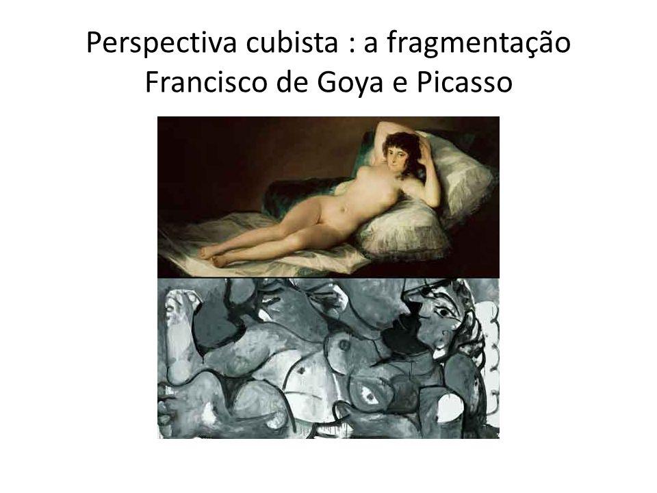 Perspectiva cubista : a fragmentação Francisco de Goya e Picasso