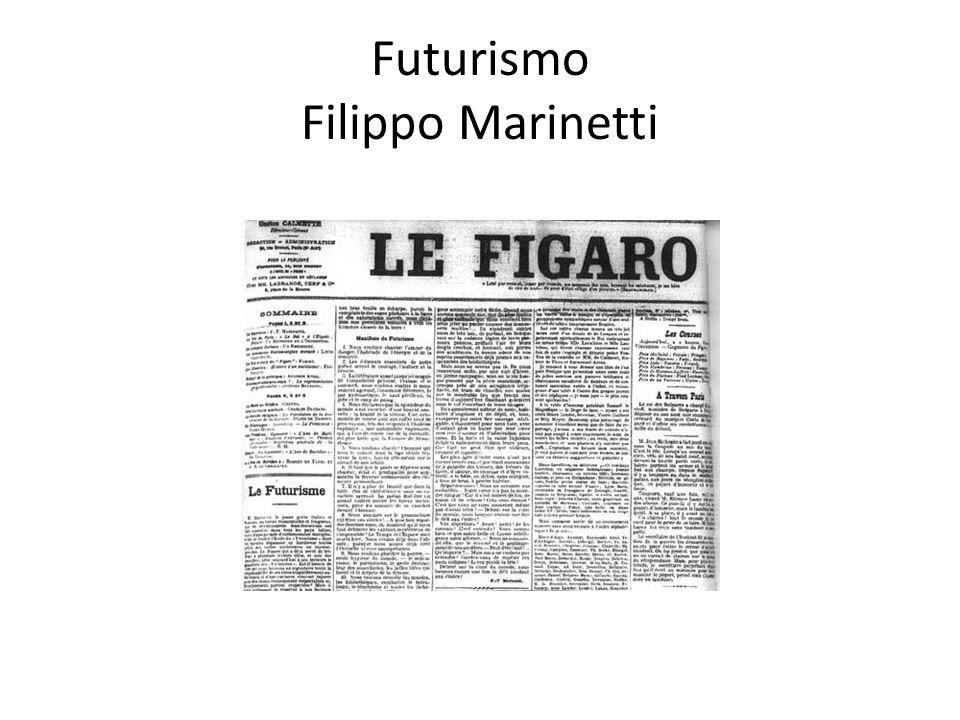 Futurismo Filippo Marinetti