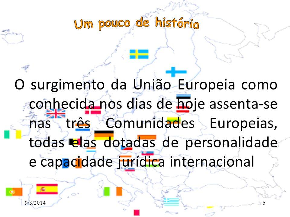 A União Europeia tem muitas facetas, sendo as mais importantes: 1.mercado único europeu (uma união aduaneira), 2.uma moeda única (o euro, adotado por 16 dos 27 estados membros) e 3.políticas agrícola, de pesca, comercial e de transportes comuns.
