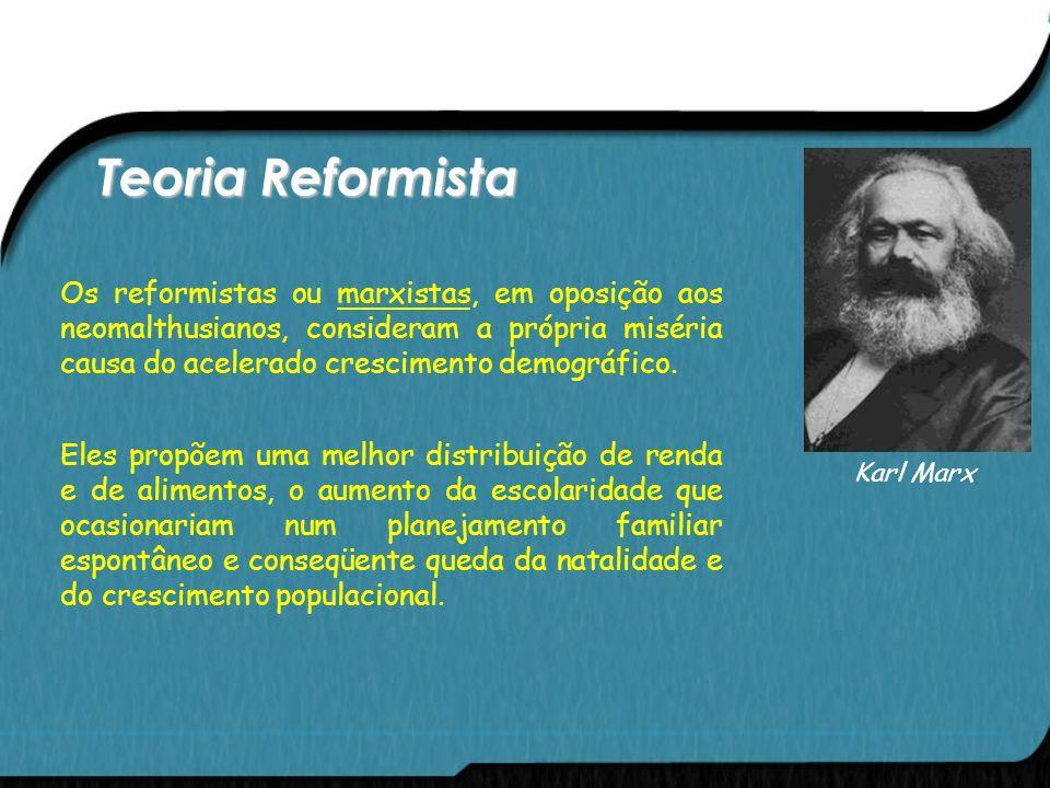 Teoria de Neomalthusiana A explosão demográfica após a Segunda Guerra Mundial ressuscitou as idéias de Malthus. Os neomalthusianos ou alarmistas aprim
