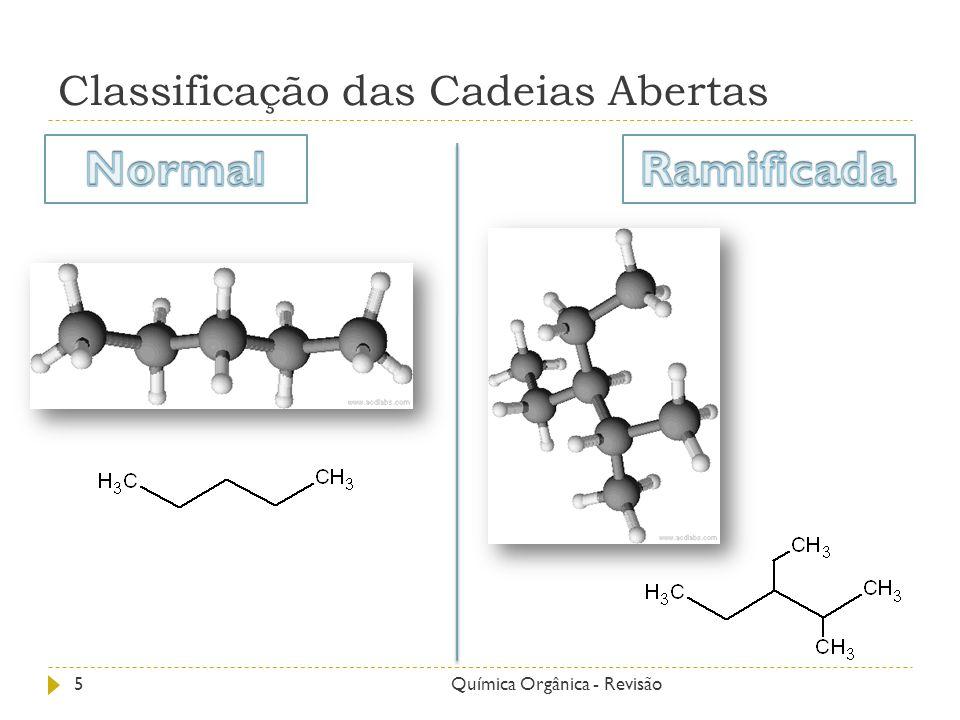 Classificação das Cadeias Abertas 6Química Orgânica - Revisão