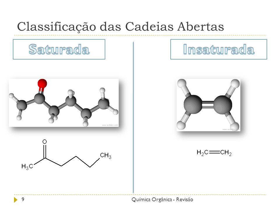 Classificação das Cadeias Abertas 9Química Orgânica - Revisão