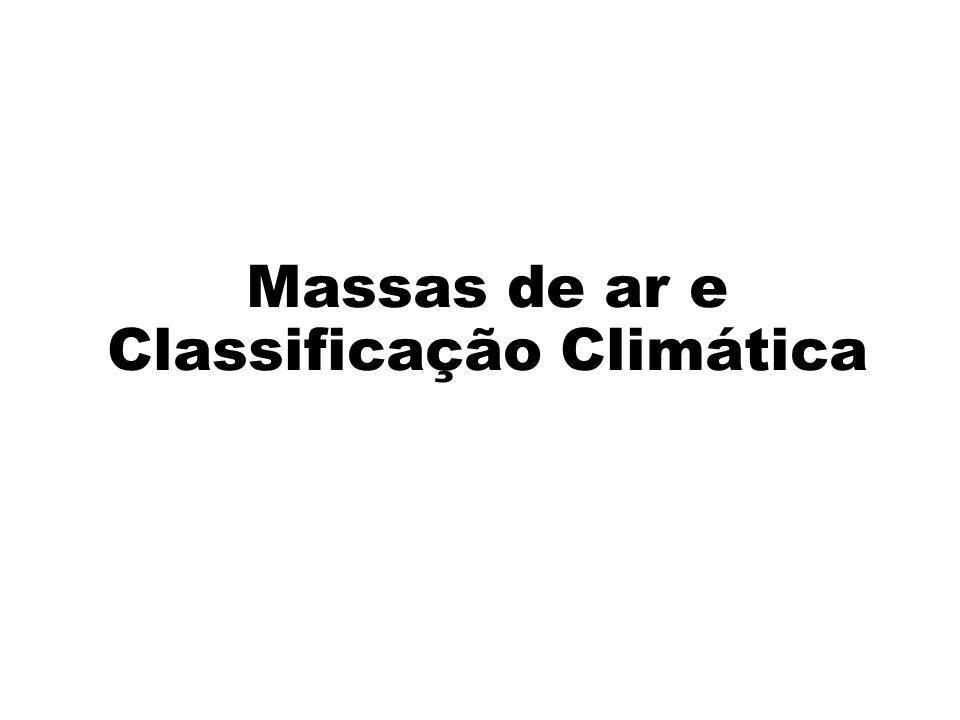 Massas de ar e Classificação Climática