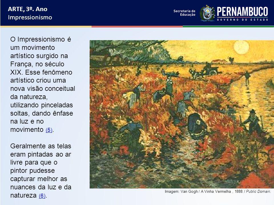 O Impressionismo é um movimento artístico surgido na França, no século XIX. Esse fenômeno artístico criou uma nova visão conceitual da natureza, utili