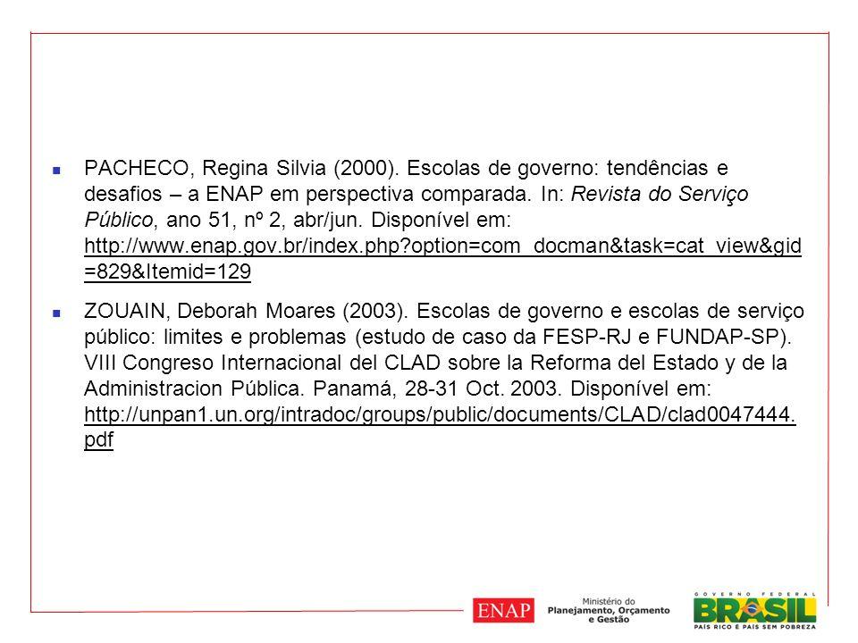PACHECO, Regina Silvia (2000).