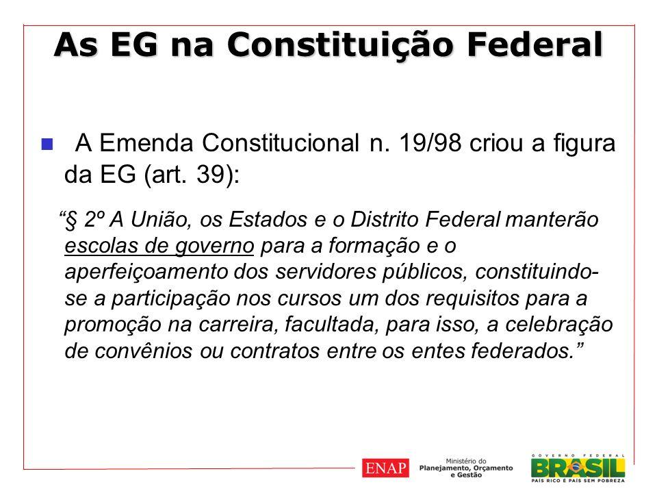 As EG na Constituição Federal A Emenda Constitucional n.