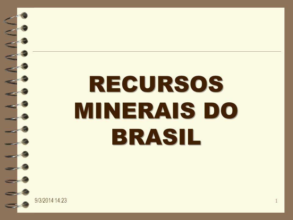 Distribuição dos recursos minerais no Brasil 9/3/2014 14:25 2
