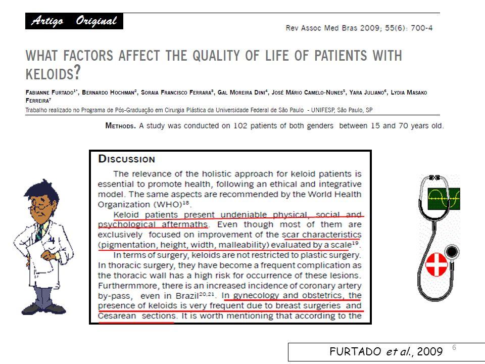 TRATAMENTO PREVENTIVO PARA QUELÓIDES & CICATRIZAÇÃO DE CIRURGIA CESARIANA – HC/UFG Faculdade de Medicina Fonte: arquivo pessoal, autorizado.