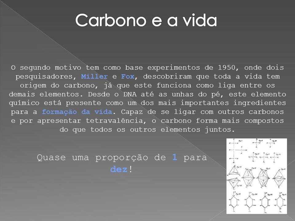 O segundo motivo tem como base experimentos de 1950, onde dois pesquisadores, Miller e Fox, descobriram que toda a vida tem origem do carbono, já que