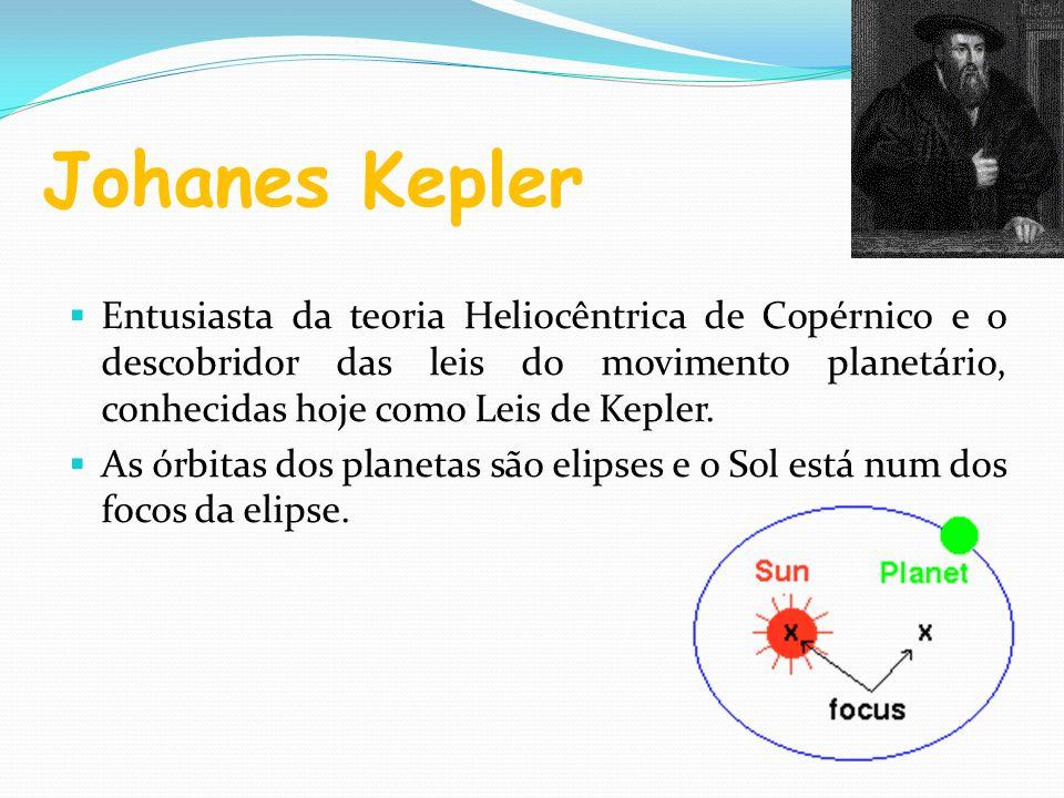 Johanes Kepler Entusiasta da teoria Heliocêntrica de Copérnico e o descobridor das leis do movimento planetário, conhecidas hoje como Leis de Kepler.